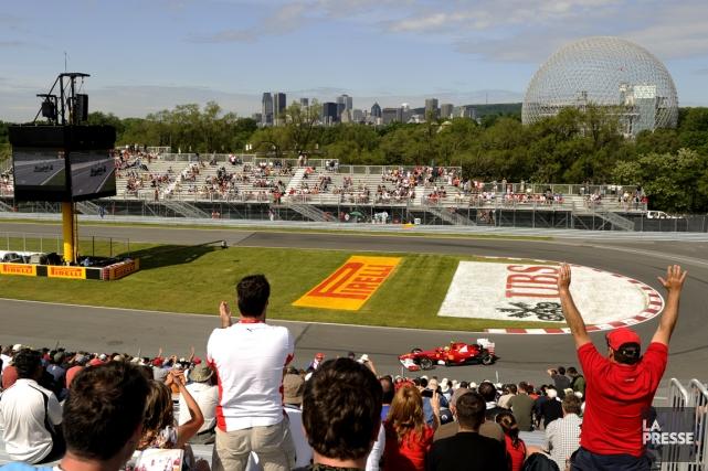 Le circuit Gilles-Villeneuve, à Montréal... (Photo Bernard Brault, La Presse)