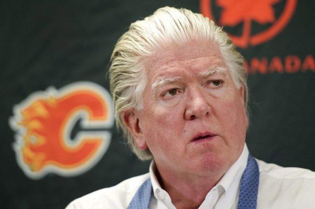 Brian Burke,directeur général par intérim des Flames de... (Photo Larry MacDougal, PC)