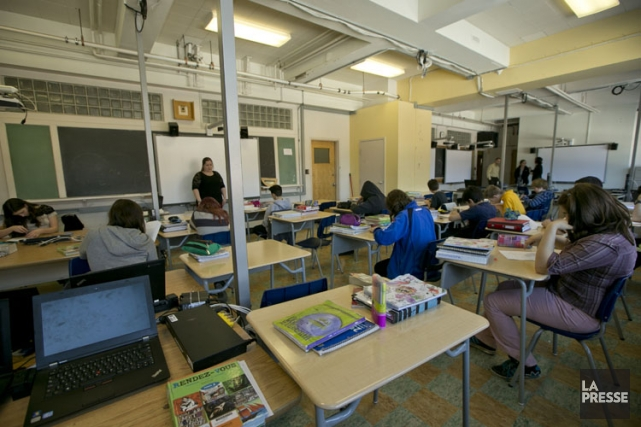 C'est dans cette classe que l'école Paul-Gérin-Lajoie-d'Outremont veut... (Photo: David Boily, La Presse)