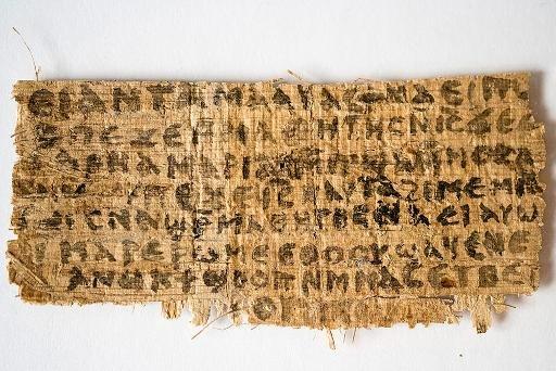 Le papyrus présenté le 19 septembre 2012 par... (Photo archives AFP)