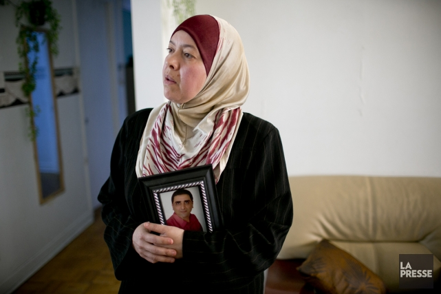 Samia Ali Messaoud, veuve de la victime: «[Le... (Photo David Boily, La Presse)