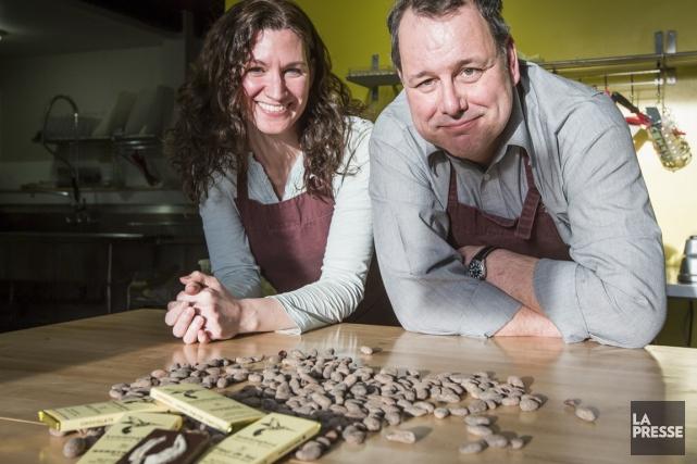 Erica et Drew Gilmour.... (PHOTO OLIVIER PONTBRIAND, LA PRESSE)
