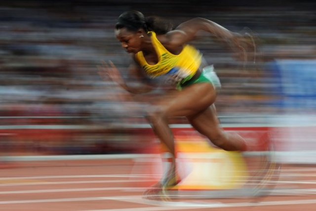 Veronica Campbell-Brown... (Photo archives Agence France-Presse)