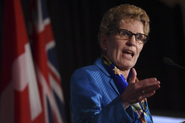 La PM de l'Ontario Kathleen Wynnea précisé qu'elle... (Archives, La Presse Canadienne)