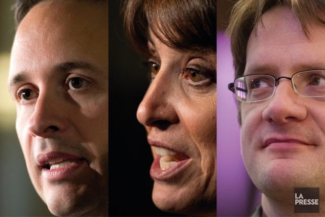 Comment se fait-il qu'Alexandre Cloutier, Véronique Hivon et... (Photomontage La Presse)