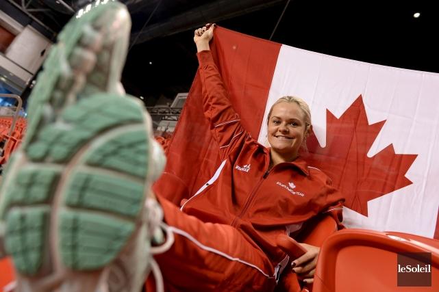En 16 sélections,Aleksandra Wozniakdétient le record canadien du... (PHOTO ÉRICK LABBÉ, LE SOLEIL)