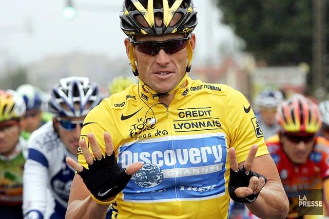 Le septuple champion déchu du Tour de France,... (PHOTO ARCHIVES LA PRESSE)
