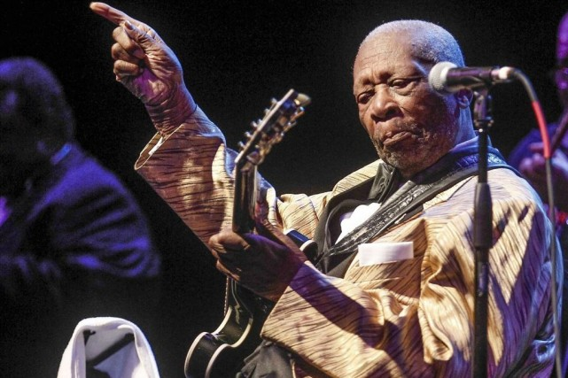 B.B King en spectacle le 4 avril dernier.... (Photo: archives AP)