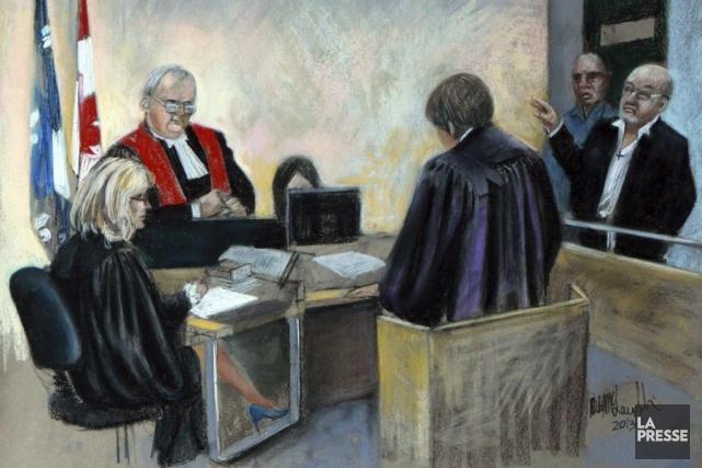 Richard Henry Bain, à droite.... (Image La Presse)