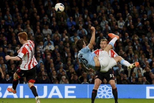 Manchester City, accroché à domicile par la lanterne rouge Sunderland (2-2)... (Photo: AFP)