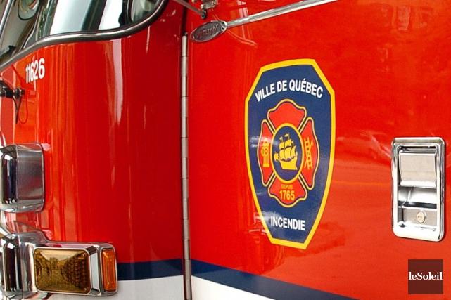 Les pompiers de Québec sont intervenus vers 7h30... (Photothèque Le Soleil, Jean-Marie Villeneuve)