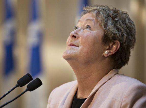 La première ministre sortante du Québec, Pauline Marois,... (Photo Jacques Boissinot, La Presse Canadienne)