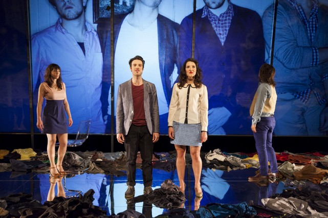Les interprètes de la pièce Cinq visages pour... (Photo: Jérémie Battaglia, fournie par Espace GO)