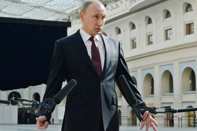 Le président Vladimir Poutine à Moscou, le 17... (PHOTO VASILY MAXIMOV, AFP)