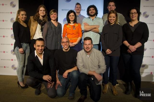 Les 12 candidats de l'émission Les chefs! -... (Photo: André Pichette, La Presse)