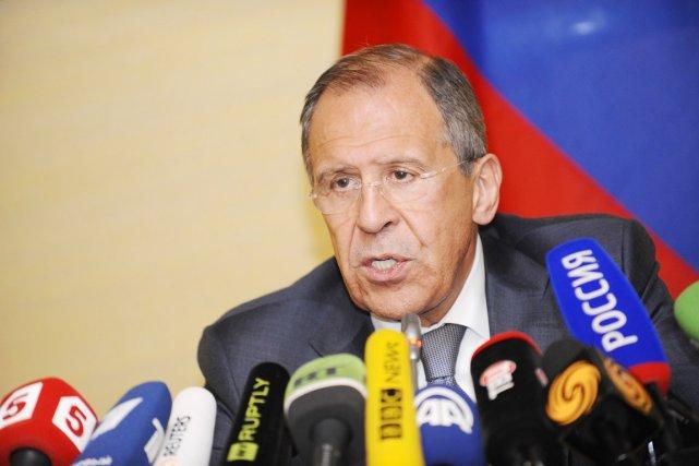 Le ministre russe des Affaires étrangères, Sergueï Lavrova... (PHOTO ALAIN GROSCLAUDE, AFP)