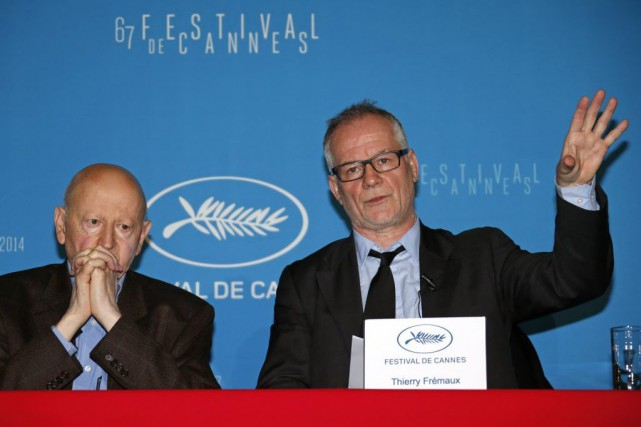 Gilles Jacob etThierry Frémaux à la conférence de... (PHOTO ARCHIVES REUTERS)