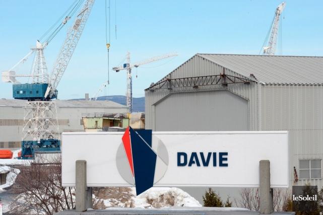 Les chantiers maritimes Davie de Lévis sont les... (Photothèque Le Soleil, Erick Labbé)