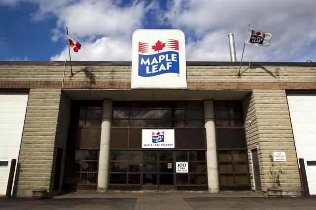 Aliments Maple Leaf (T.MFI) a épongé une perte de 39,5... (Photo Brent Lewin, archives Bloomberg)