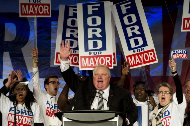 Rob Ford, ici lors d'un grand rassemblement en... (Photo archives La Presse Canadienne)