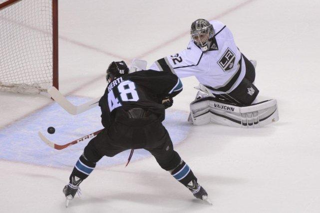 Tomas Hertl a compté le deuxième but des... (Photo Kyle Terada, USA TODAY Sports)