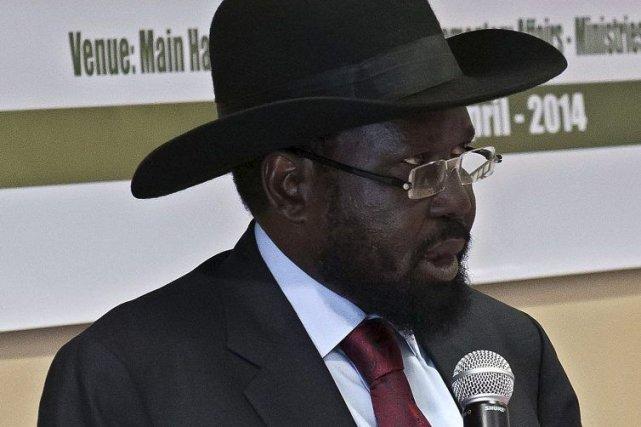 Le président du Soudan du Sud, Salva Kiir.... (Photo Charles Atiki Lomodong, Agence France-Presse)
