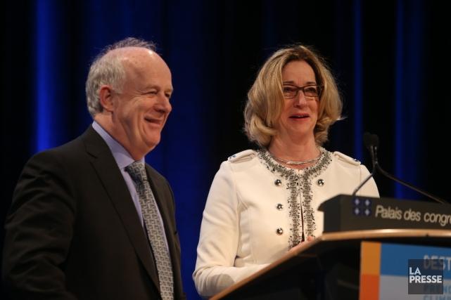 Lucie Boily (à droite), vice-présidente aux politiques de... (Photo Martin Chamberland, La Presse)