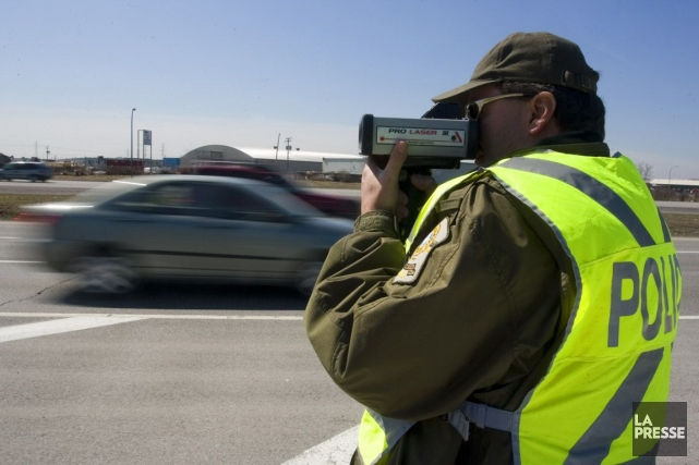 La SQ rappelle que la vitesse est la... (PHOTO FRANÇOIS ROY, ARCHIVES LA PRESSE)