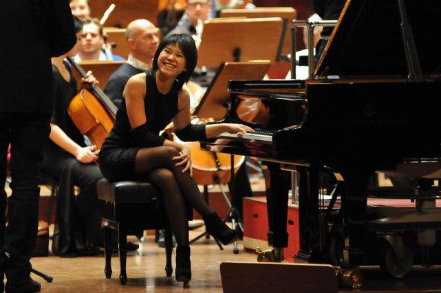 La pianiste chinoise Yuja Wang, en répétitions à... (Photo Mandy Cheng, archives AFP)