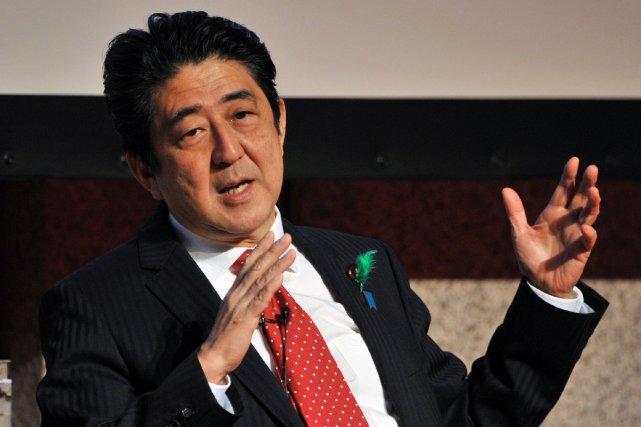 Le premier ministre japonaisShinzo Abe.... (PhotoYoshikazu TSUNO, AFP)