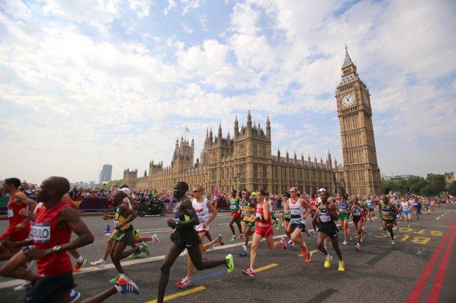 Scène du marathon de Londres.... (Photo archives New York Times)
