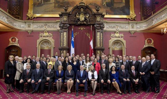 Parmi les 17 femmes élues sous la bannière... (Photo Jacques Boissinot, La Presse Canadienne)
