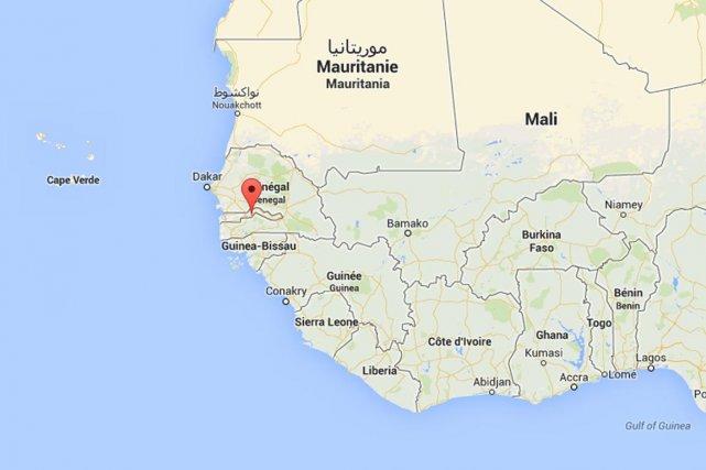 Enclavée dans le Sénégal à l'exception de sa... (Carte Google)