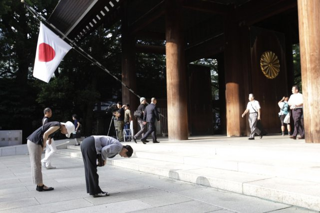 Le sanctuaire shinto deYasukuni, au Japon,fut construit en1869pour... (Photo Shizuo Kambayashi, archives AP)