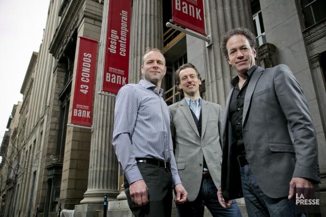 Stéphane Brault, David Lavoie et Philippe Bernard, promoteurs... (PHOTO DAVID BOILY, LA PRESSE)