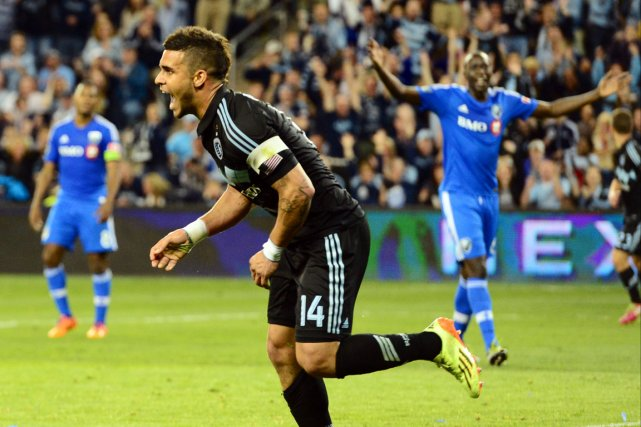 L'Impact s'est incliné 4-0 devant Dominic Dwyer (14)... (Photo Jasen Vinlove, USA Today)