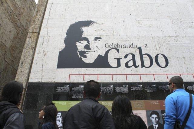 Un hommage à Gabriel Garcia Marquez à Bogota.... (Photo: AFP)