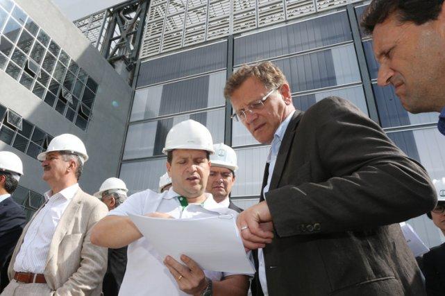 Jerome Valcke a visité mardi l'Arena da Baixada,... (Photo: AFP)