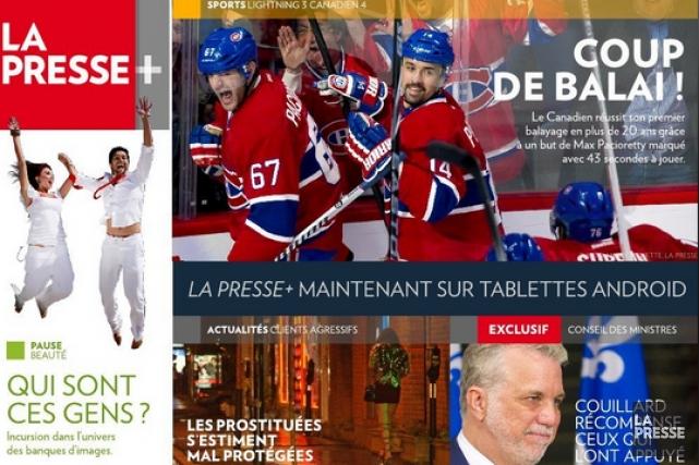 On me demande souvent de décrire La Presse+ en une phrase. Est-ce un journal?... (Photo archives La Presse)