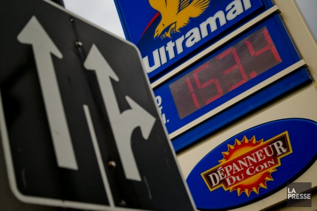 En 2008, lorsque le prix du litre d'essence... (PHOTO DAVID BOILY, LA PRESSE)