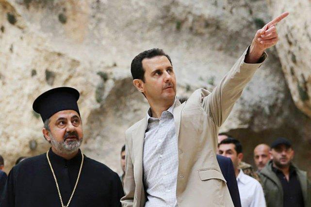 Depuis un demi-siècle, Hafez al-Assad puis son fils... (PHOTO AP/SANA)