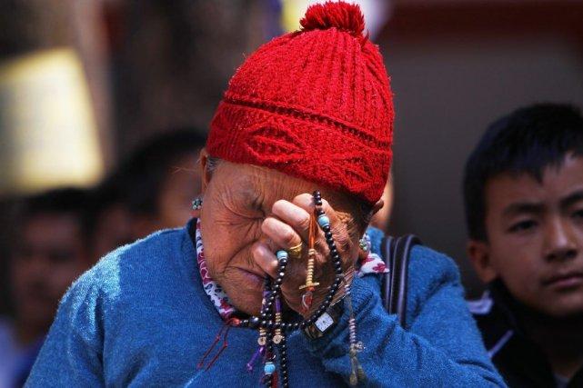 Les sherpas demandent une meilleure indemnisation des familles... (Photo Niranjan Shrestha, AP)