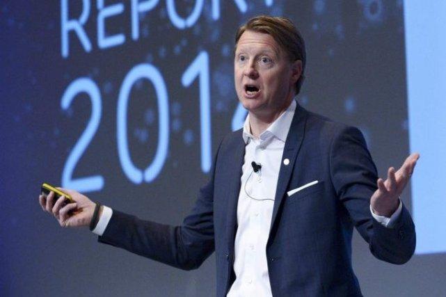 Ledirecteur général d'Ericsson, Hans Vestberg.... (PHOTO REUTERS)