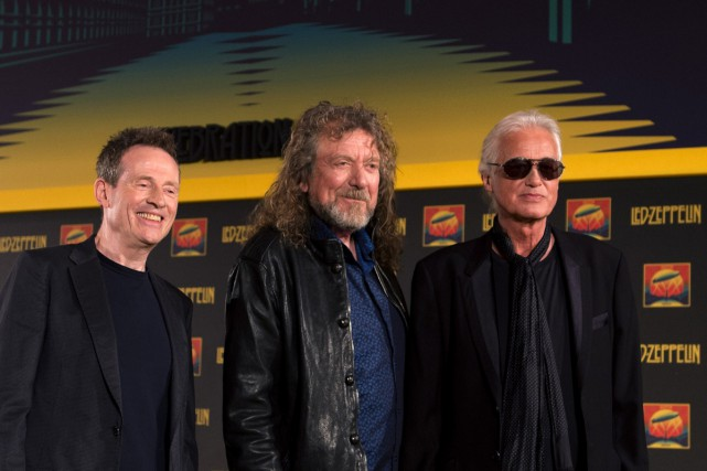 John Paul Jones, Robert Plant et Jimmy Page... (Archives AFP)