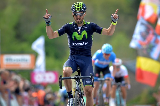 Alejandro Valverde... (Photo David Stockman, AFP)