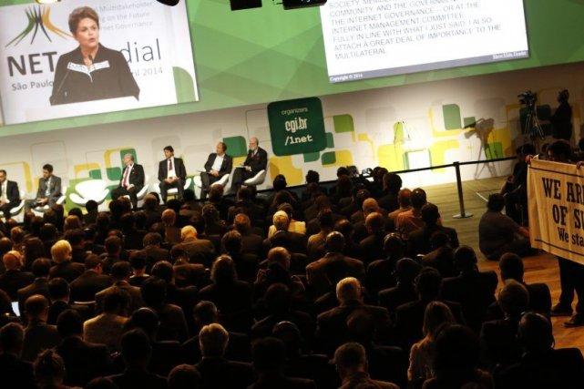 Consacré à la gouvernance d'internet, le sommet NETmundial,... (PHOTO NACHO DOCE, REUTERS)