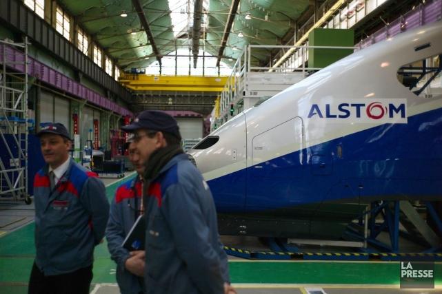 Alstom abolira 150 postes à son centre d'excellencede Saint-Laurent pour les... (PHOTO SEBASTIEN BOZON, ARCHIVES AFP)
