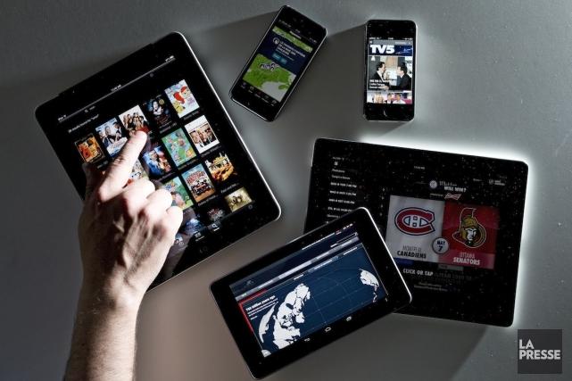 La tablette numérique est présente dans 64% des... (PHOTO ALAIN ROBERGE, ARCHIVES LA PRESSE)