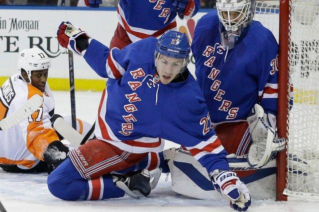Ryan McDonagh et ses coéquipiers des Rangers de... (Photo Frank Franklin II, AP)
