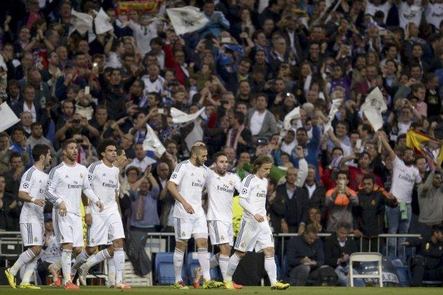 Karim Benzema a marqué l'unique but de la rencontre pour donner une priorité de... (Photo: AFP)